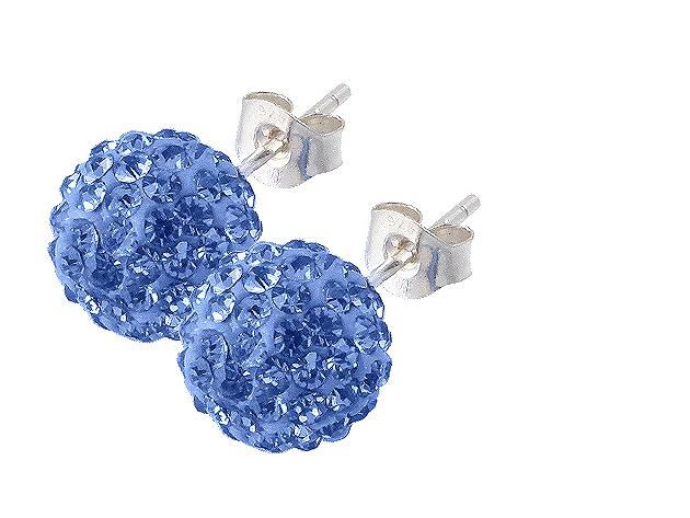 Nőnapi ezüst fülbevaló választható színben