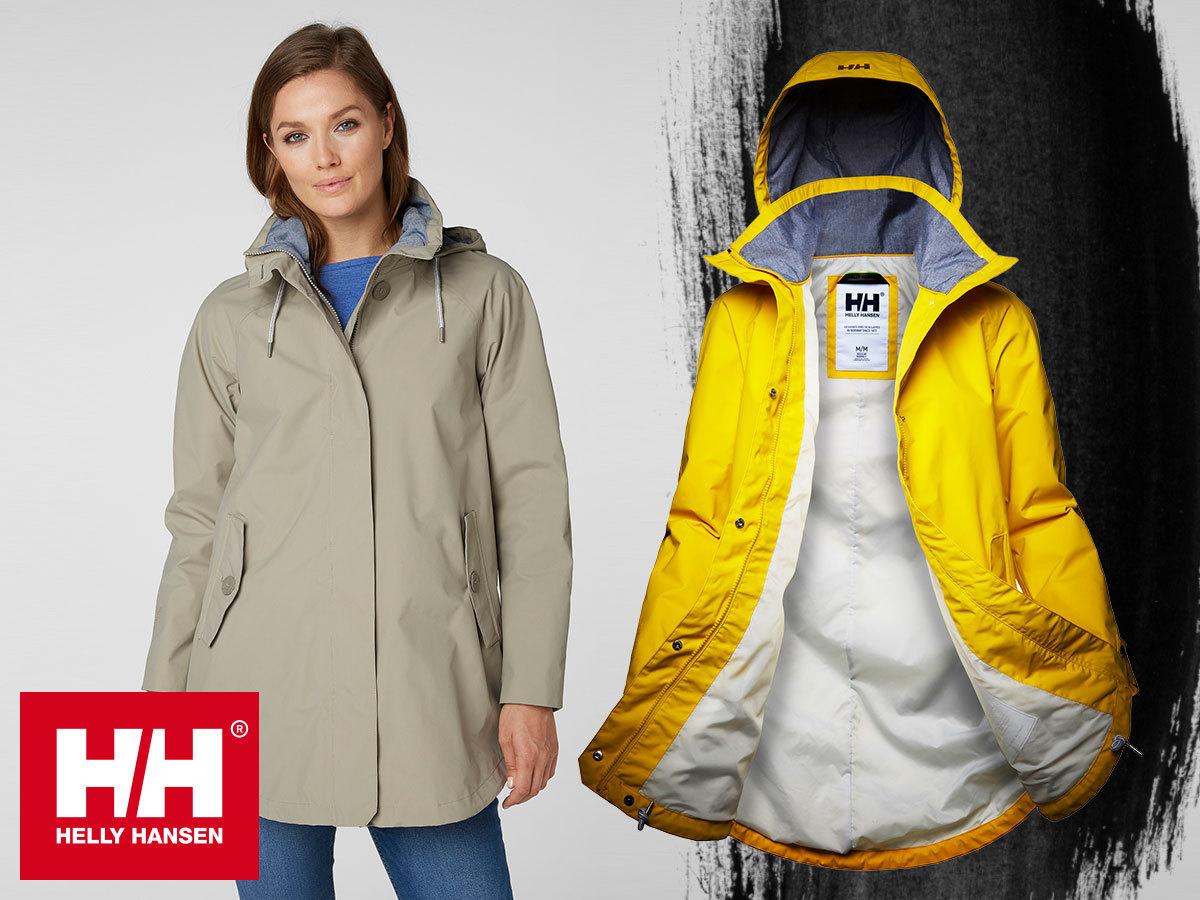 Helly Hansen W SENDAI RAIN COAT női kapucnis esőkabát, vízálló, szélálló és lélegző anyagból - nőies fazon és funkcionális professzionalizmus egyben
