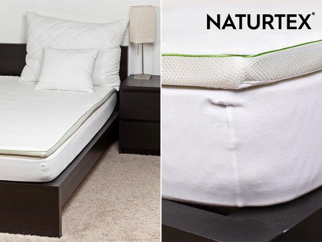 Naturtex Memory fedőmatrac, mely a test különböző zónáit eltérő keménységgel támasztja alá, pihentetőbb alvást biztosítva