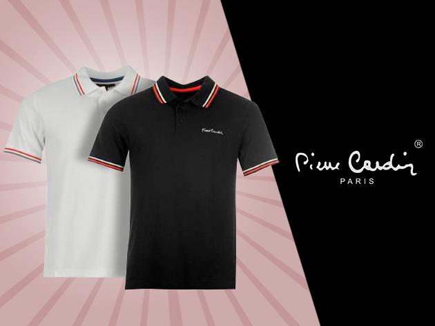Pierre Cardin férfi galléros póló fehér és fekete színben, 7.990 Ft helyett 3.290 Ft-ért!