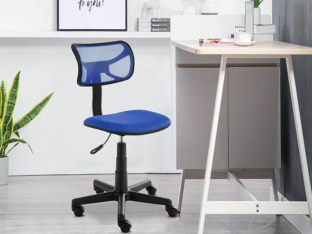 Alacsony háttámlás irodai szék, 3 színben - gázliftes / állítható magasságú, deréktámasztó kialakítással