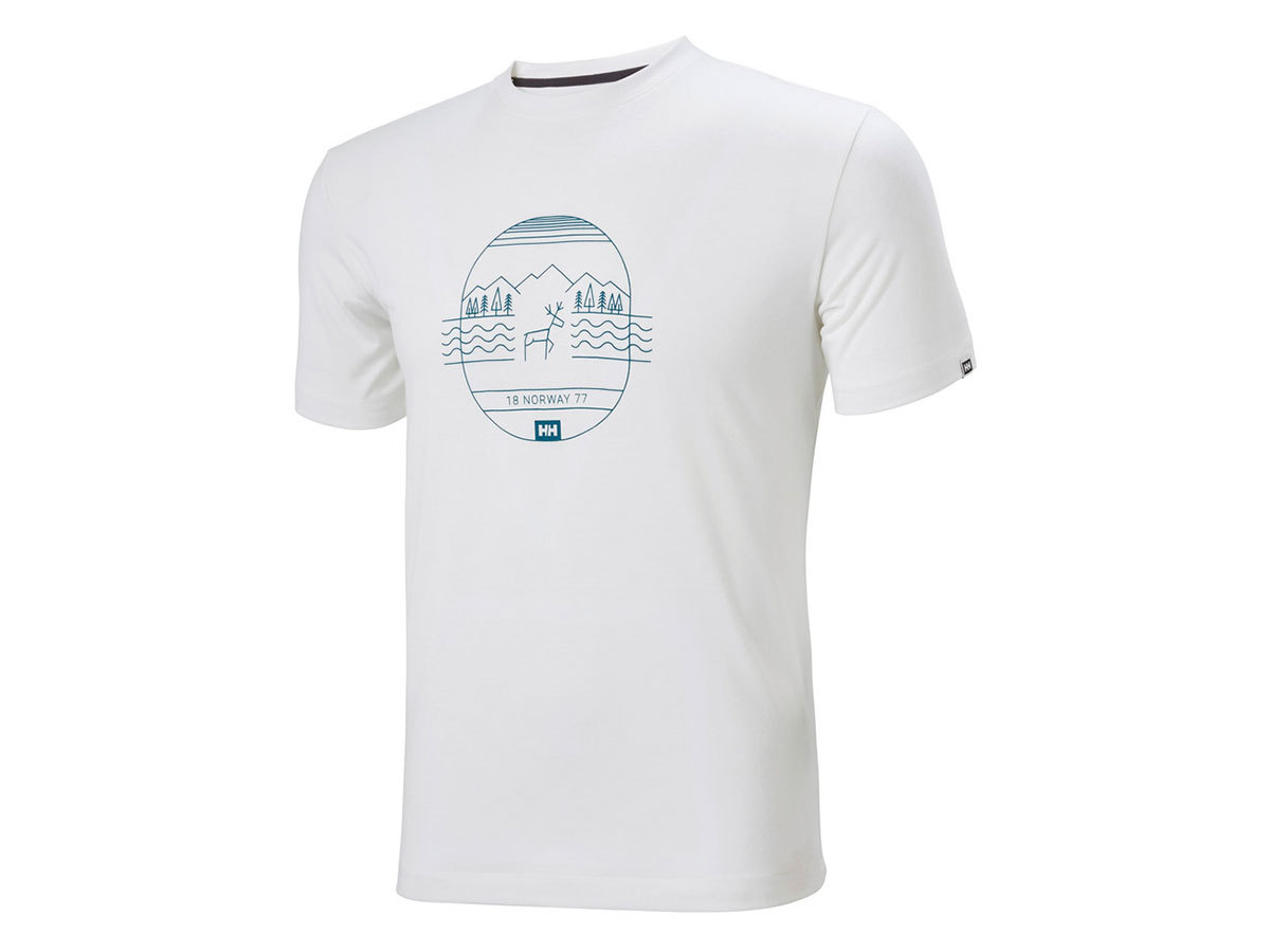 Helly Hansen SKOG GRAPHIC T-SHIRT - WHITE - M (62856_002-M )