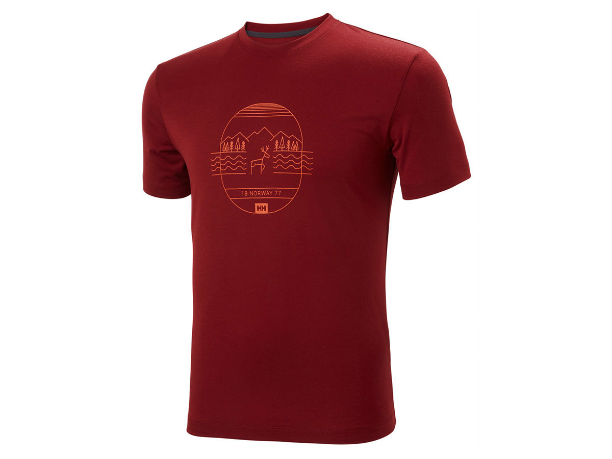 Helly Hansen SKOG GRAPHIC T-SHIRT - OXBLOOD - M (62856_215-M )