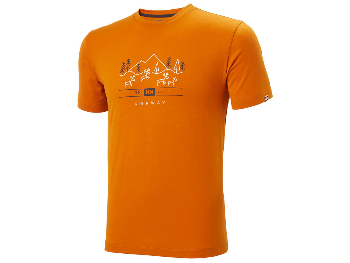 Helly Hansen SKOG GRAPHIC T-SHIRT - MARMALADE - L (62856_283-L )