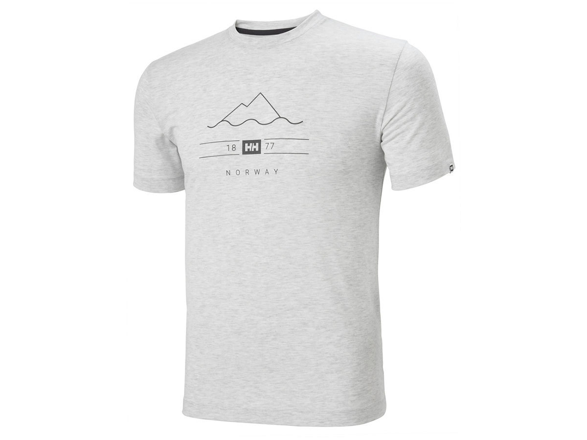 Helly Hansen SKOG GRAPHIC T-SHIRT - GREY FOG - S (62856_853-S )