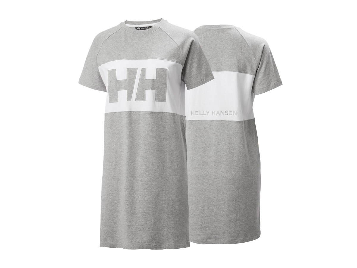 Helly Hansen W ACTIVE T-SHIRT DRESS - GREY MELANGE - M (53437_949-M )