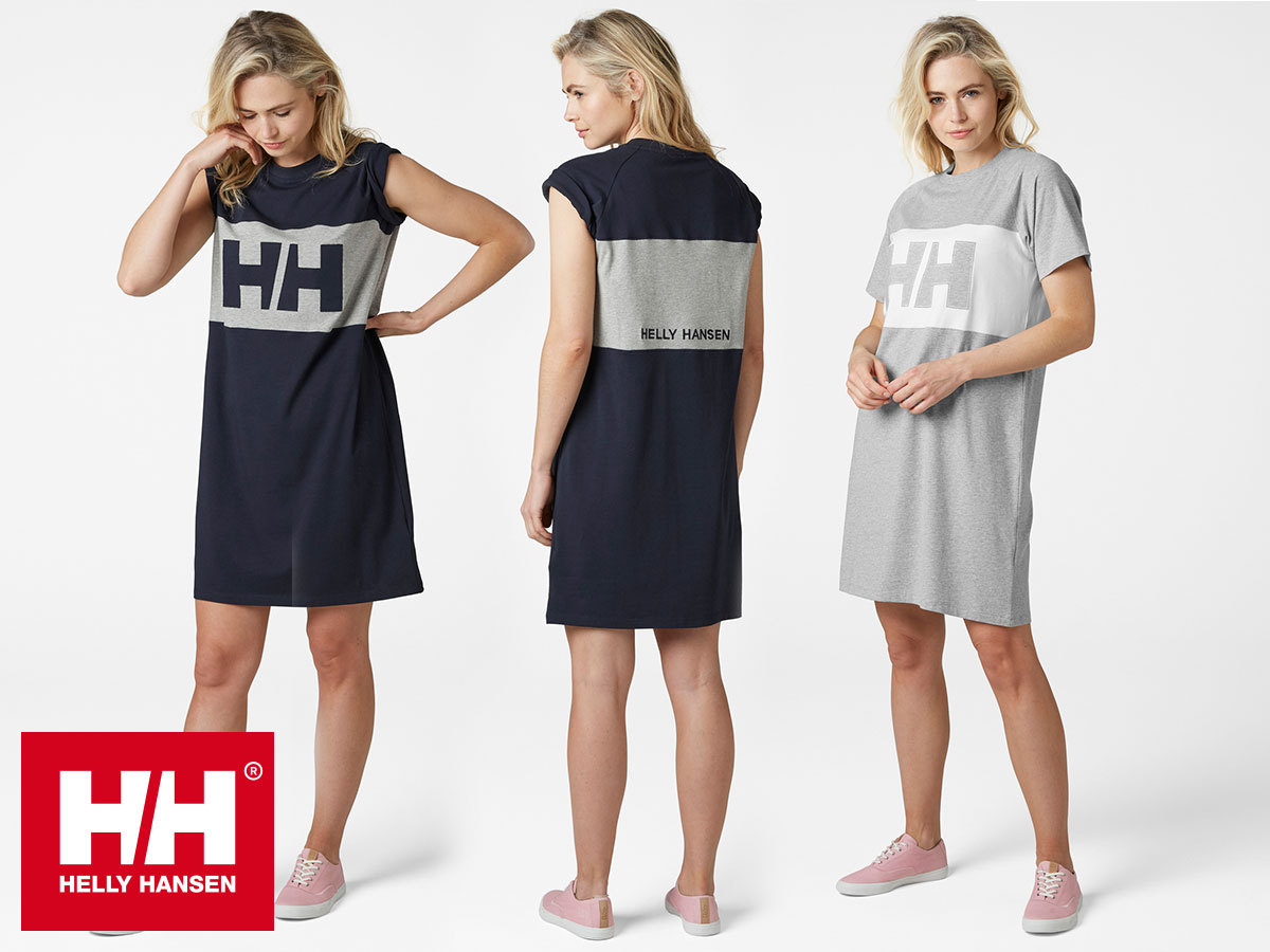 Helly Hansen W ACTIVE T-SHIRT DRESS - rövid ujjú női pólóruha kényelmes szabással, pamut anyagból (XS-XL)