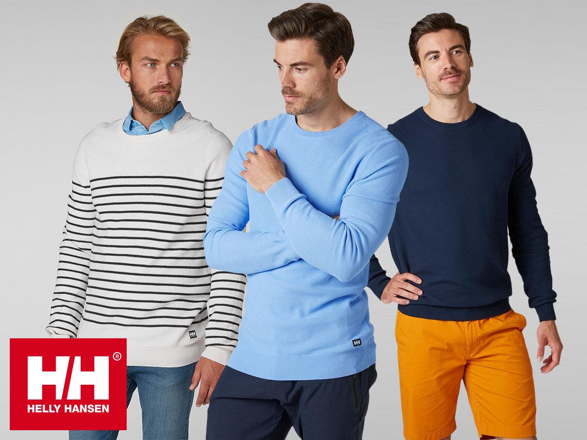 Helly Hansen SKAGEN SWEATER férfi pulóverek finomkötött pamut anyagból a könnyed elegancia jegyében (S-XXL)