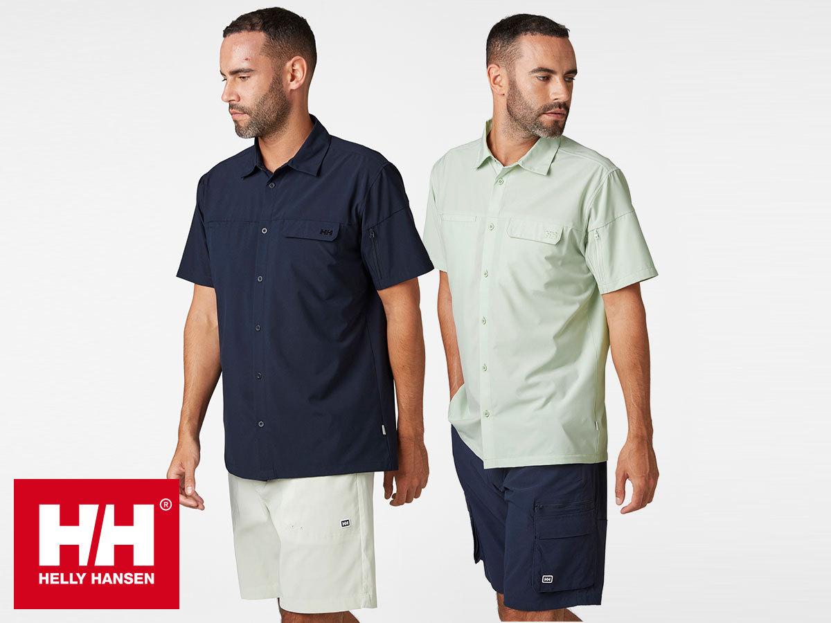 Helly Hansen VERVEN SS SHIRT rövid ujjú férfi ing, gyorsan száradó, Bluesign® által jóváhagyott anyagból