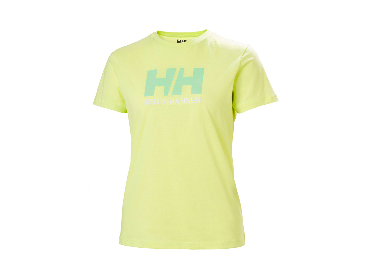 Helly Hansen W HH LOGO T-SHIRT - SUNNY LIME - L (34112_379-L )