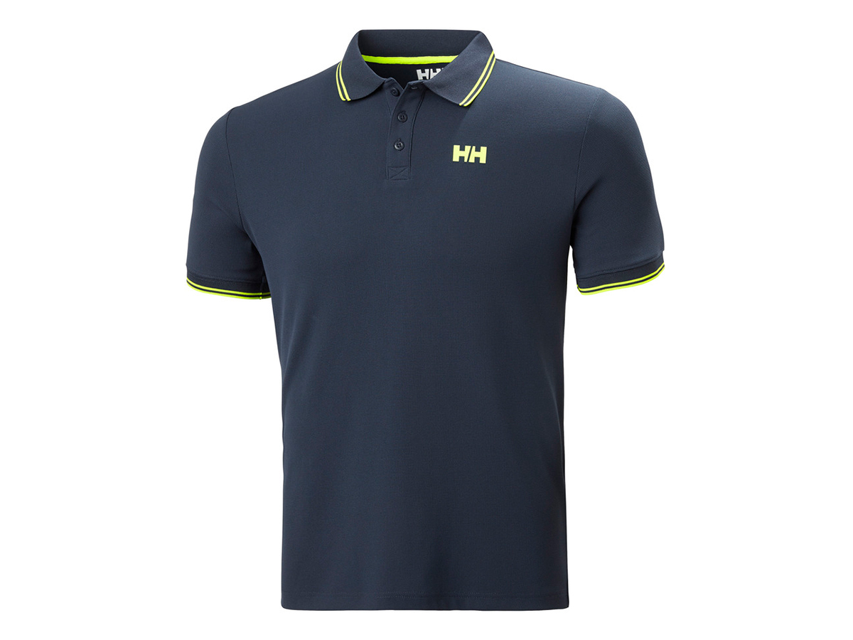 Helly Hansen KOS POLO - NAVY - LIME STRIPE - S (34068_598-S )