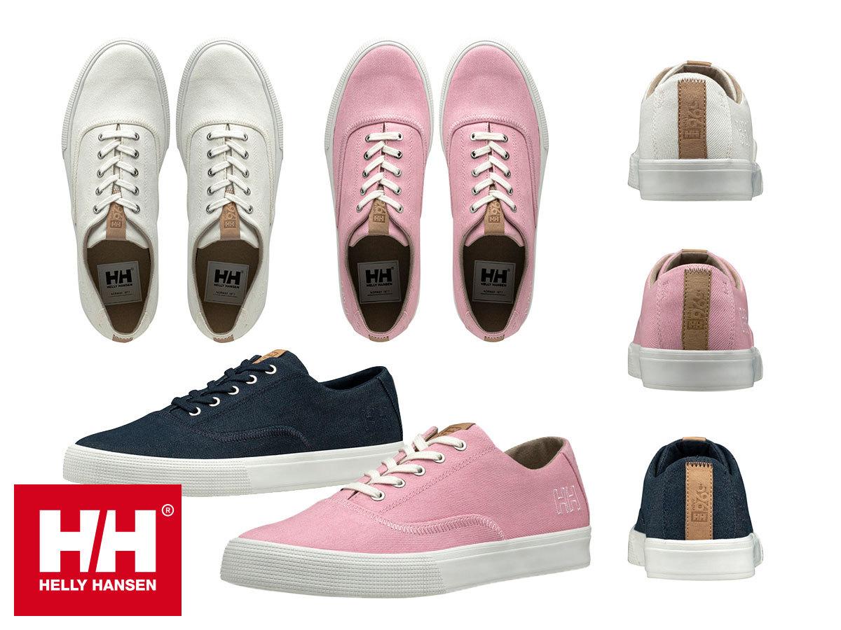 Helly Hansen W AZURE női vászoncipők 36-42 méretig, jól tapadó Helly Grip talppal, bőr részletekkel