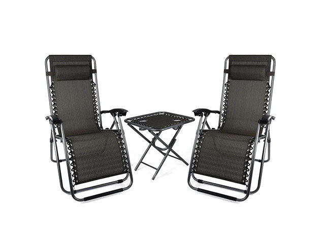 2 db zéró gravitáció kerti szék asztallal - HOP1000918-1