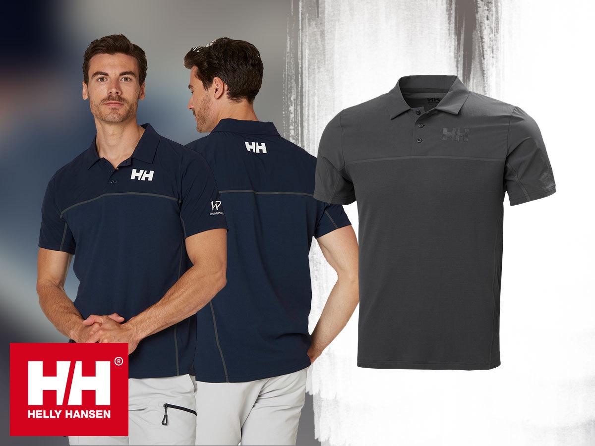 Helly Hansen HP FOIL OCEAN POLO - technikai póló férfiaknak gyorsan száradó és hűsítő hatású Tactel® anyagból, UPF40+ védelemmel