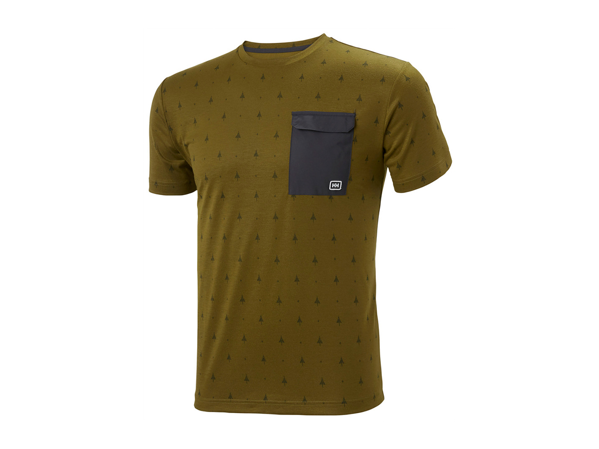 Helly Hansen LOMMA T-SHIRT - FIR GREEN PRINT - L (62857_487-L )