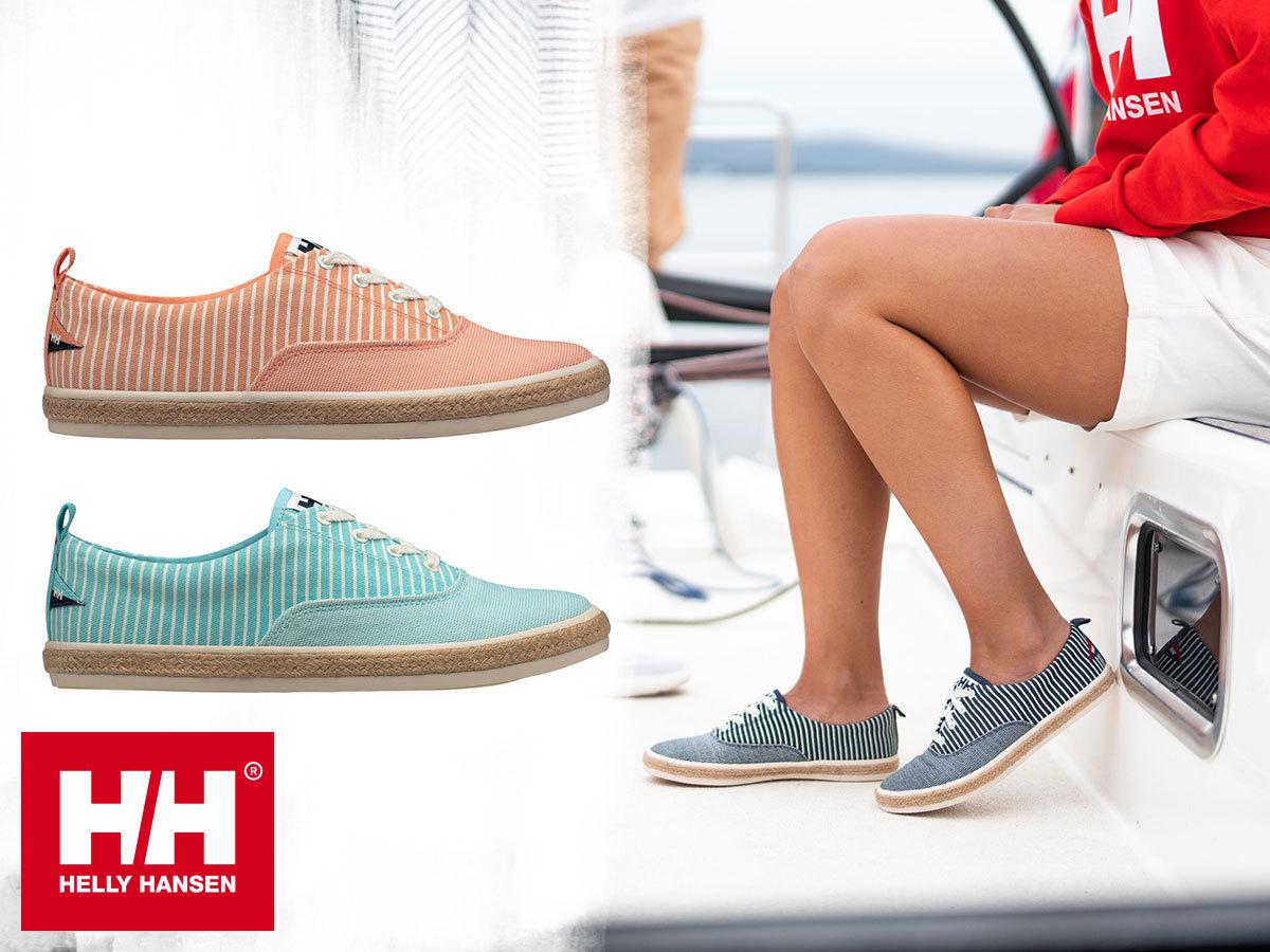 Helly Hansen W CORALINE stílusos vászoncipő nőknek, kényelmes EVA talpbetéttel (36-42 méretben), vitorlás stílussal
