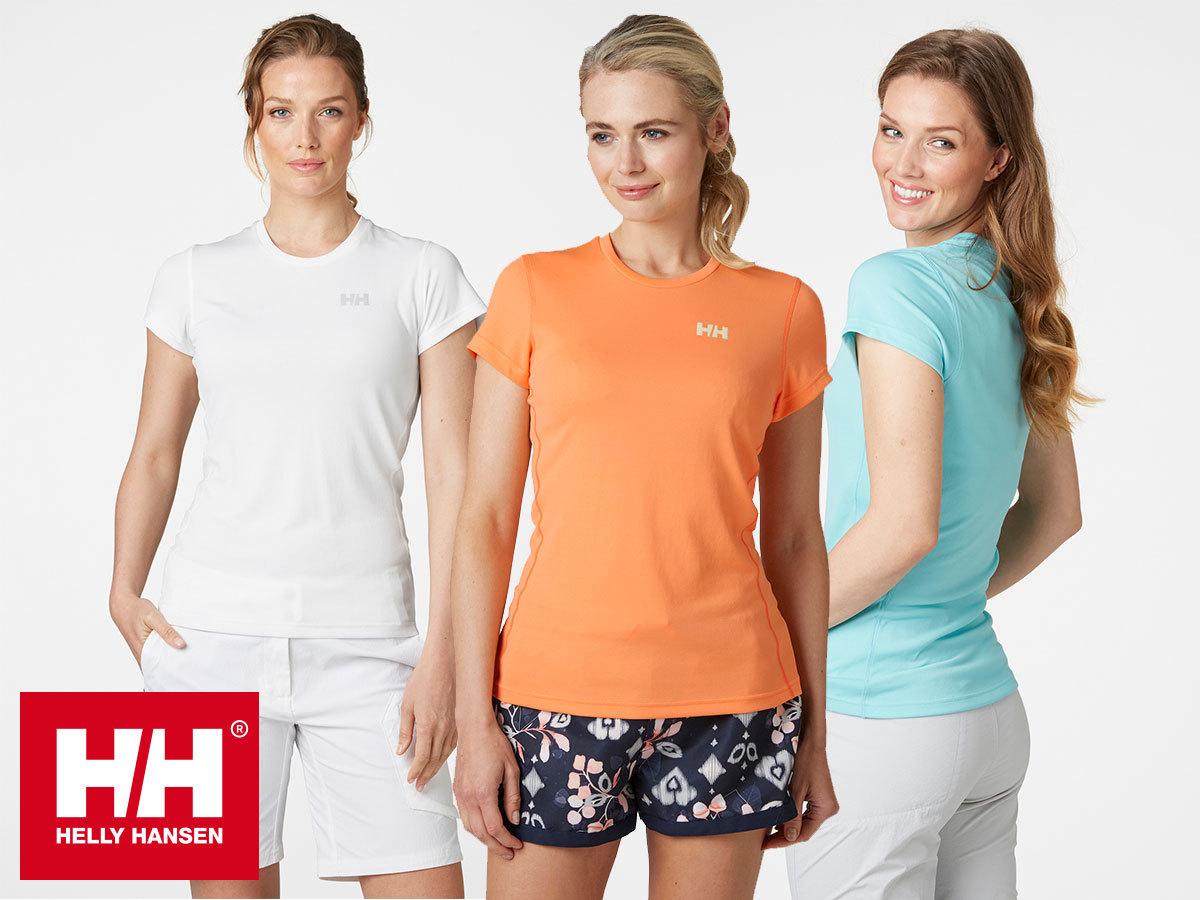 Helly Hansen W HH LIFA ACTIVE SOLEN TSHIRT női felső jól szellőző és gyorsan száradó anyagból (XS-XL), UPF50+ védelemmel
