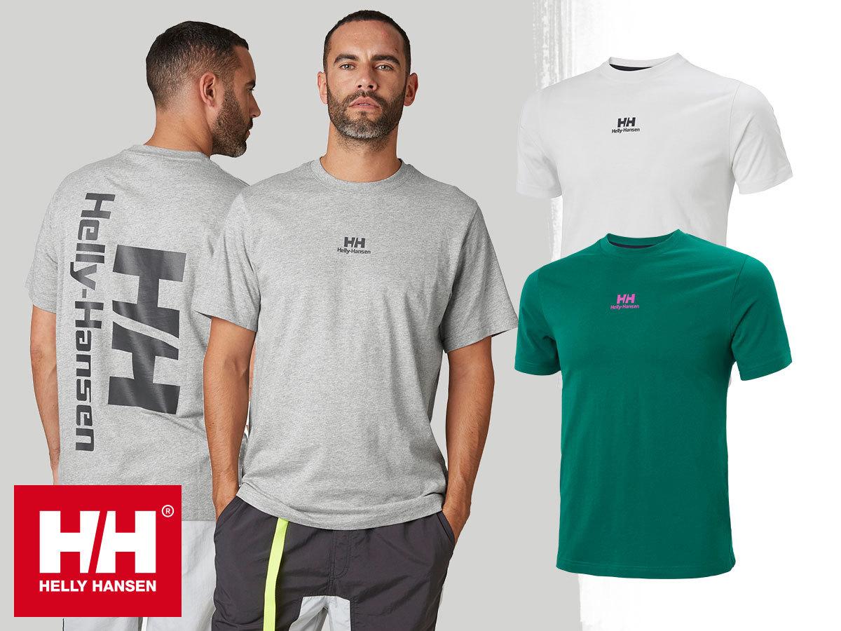Helly Hansen YU20 LOGO T-SHIRT - rövid ujjú férfi pamut póló, kerek nyakkal (S-XL)