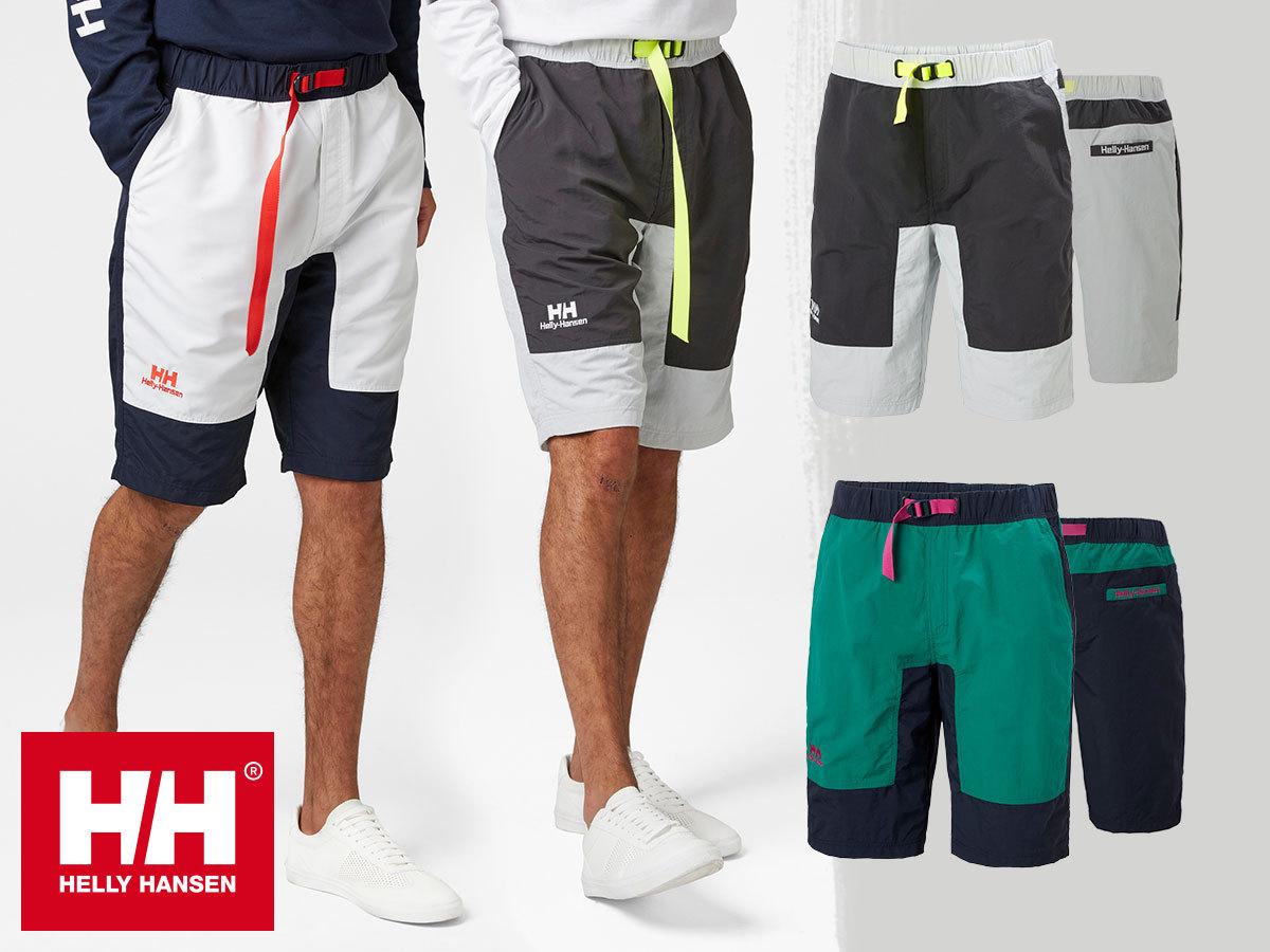 Helly Hansen YU20 SHORTS - rövidnadrág férfiaknak, gyorsan száradó bluesign® anyagból - vagány, fiatalos stílus