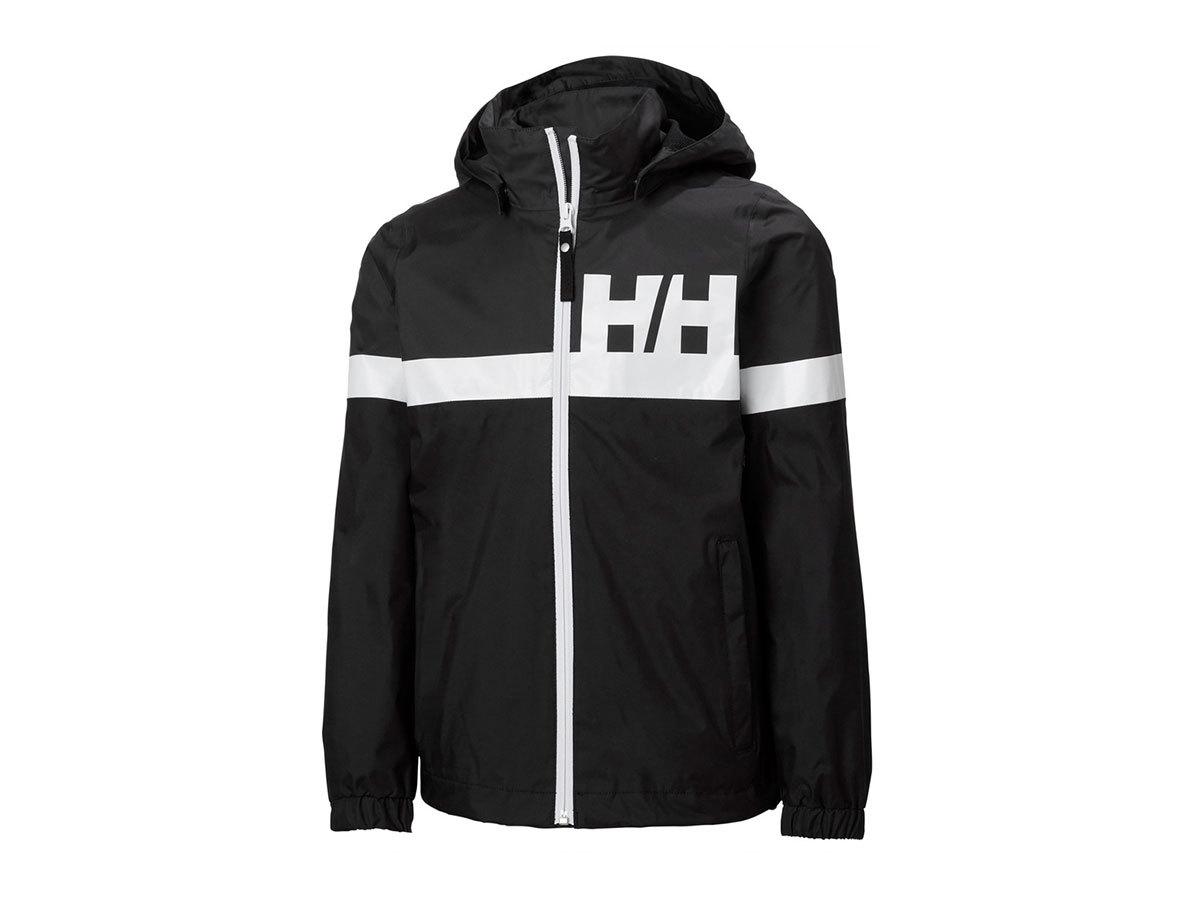 Helly Hansen JR ACTIVE RAIN JACKET - BLACK - 128/8 (41696_990-8 )