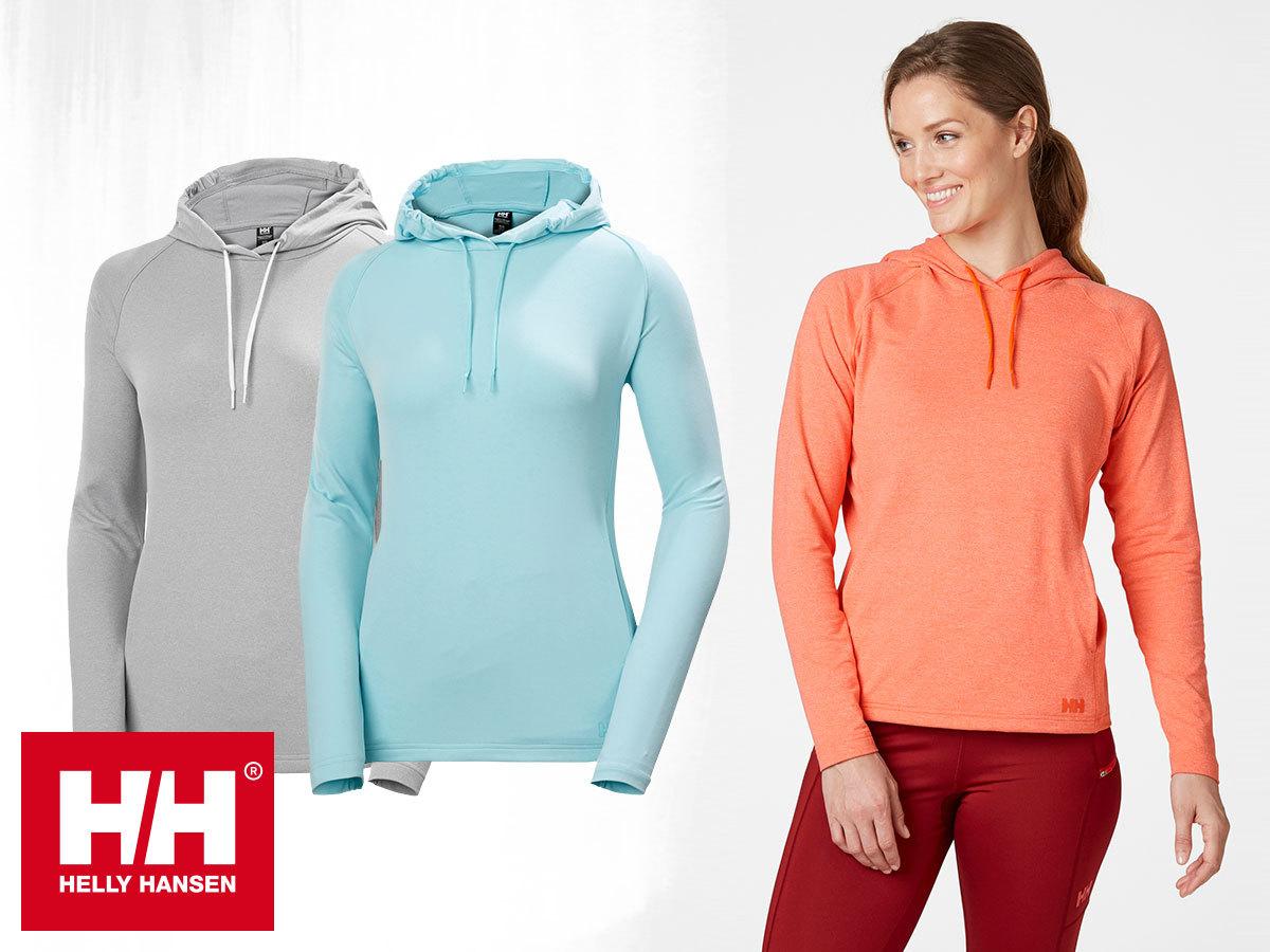 Helly Hansen W VERGLAS LIGHT HOODIE kapucnis, szuper könnyű és rugalmas pulóver nőknek (S-XL)