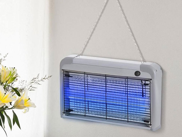 Elektromos rovarcsapda UV fénnyel, kivehető rovargyűjtő tálcával - szinte minden repülő rovar ellen bevethető