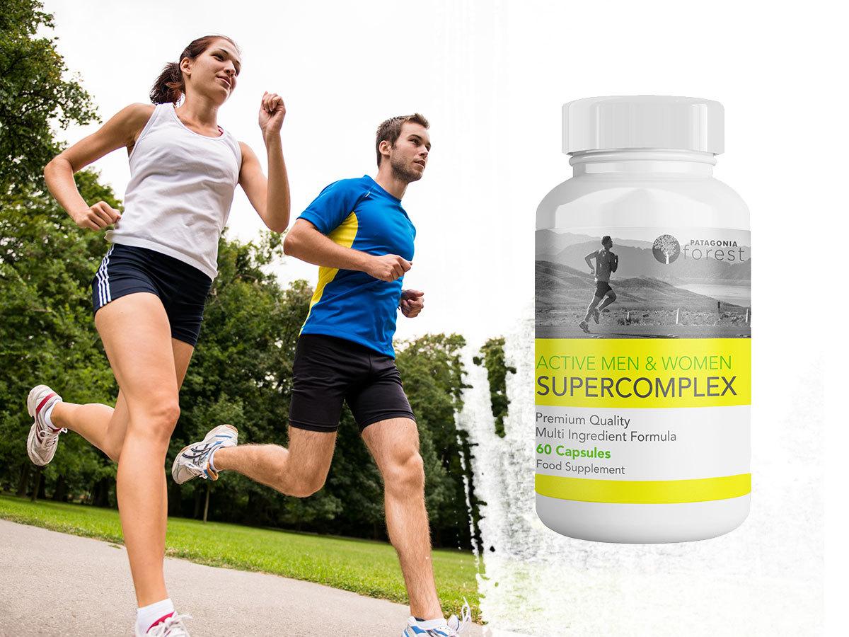 Active men and women supercomplex, étrend-kiegészítő a mentális és fizikai támogatásért (60 db kapszula)