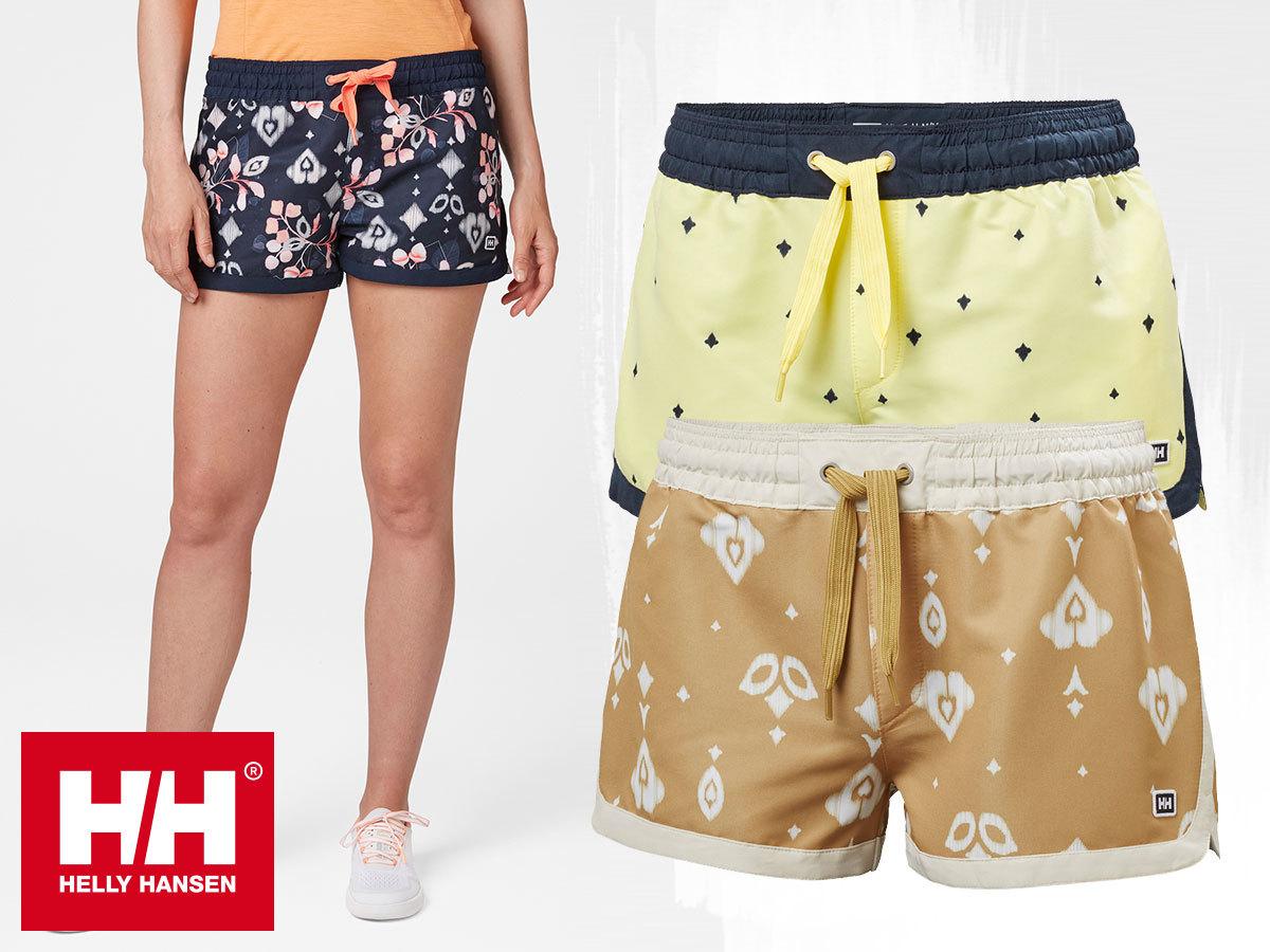 """Helly Hansen W SOLEN PRINTED WATERSHORTS 2.5"""" -  női rövidnadrág gyorsan száradó anyagból, UV védelemmel (XS-XL)"""