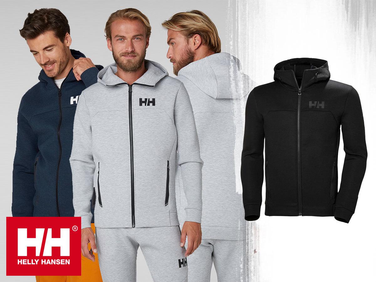 Helly Hansen HP OCEAN FZ HOODIE kapucnis felső férfiaknak S-XXL méretben, meleg technikai-jersey anyagból