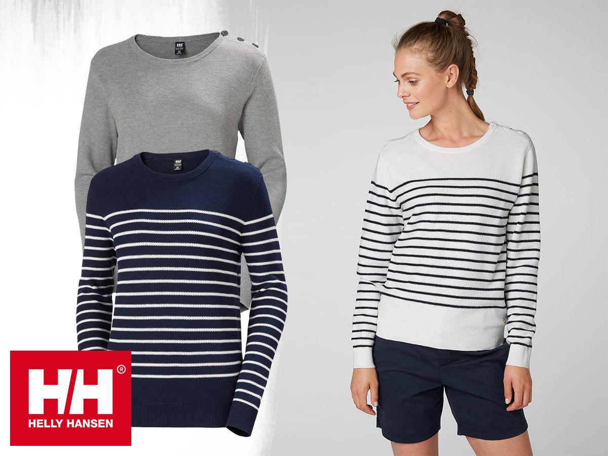 Helly Hansen W SKAGEN SWEATER női pulóverek finomkötött pamut anyagból a könnyed elegancia jegyében (S-XL)