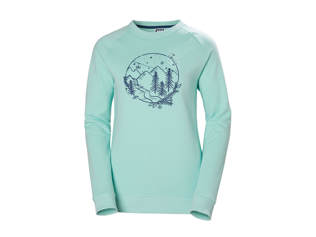 Helly Hansen W F2F COTTON SWEATER - BLUE TINT - L (62935_501-L )