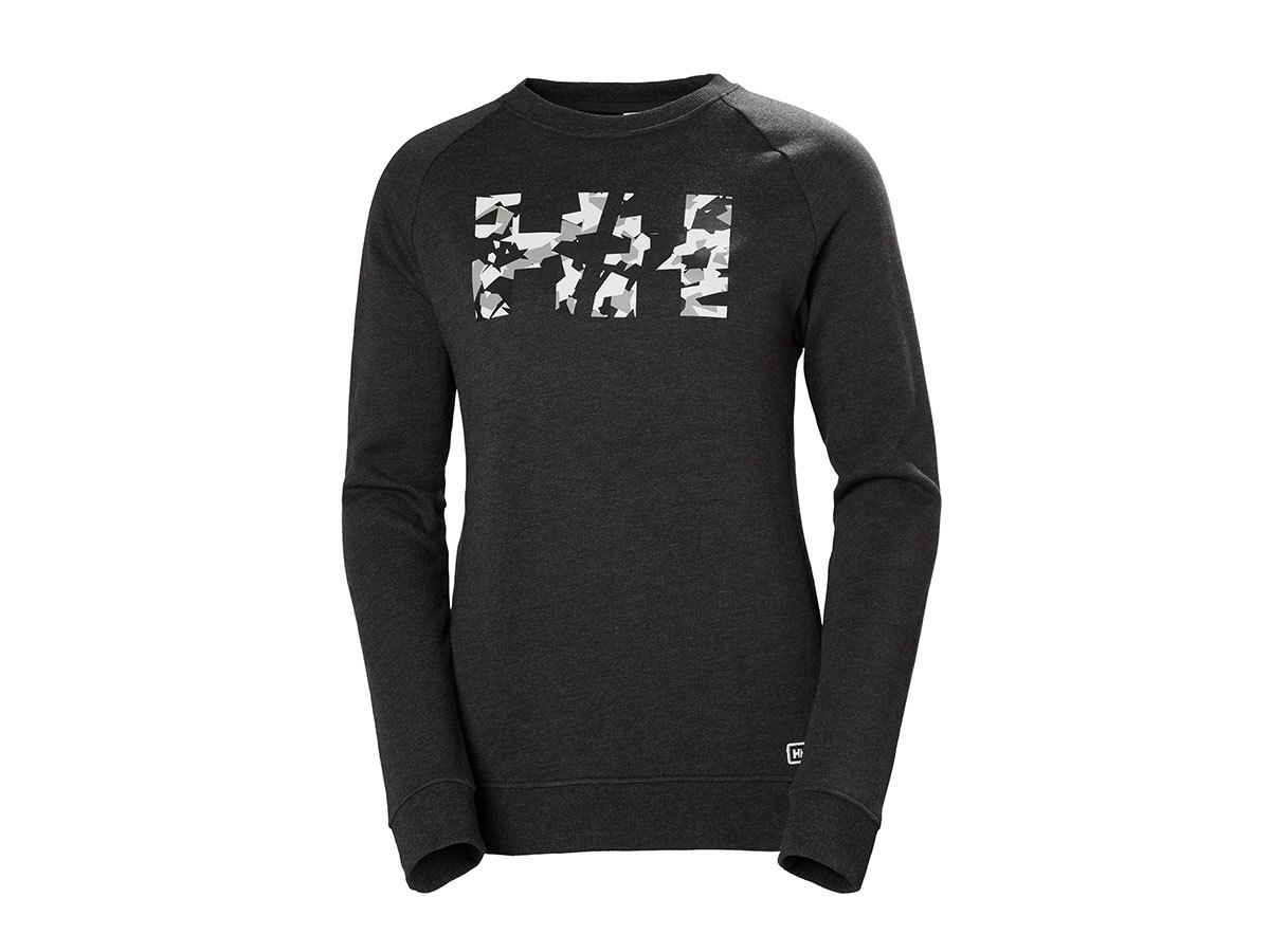 Helly Hansen W F2F COTTON SWEATER - EBONY - L (62935_980-L )