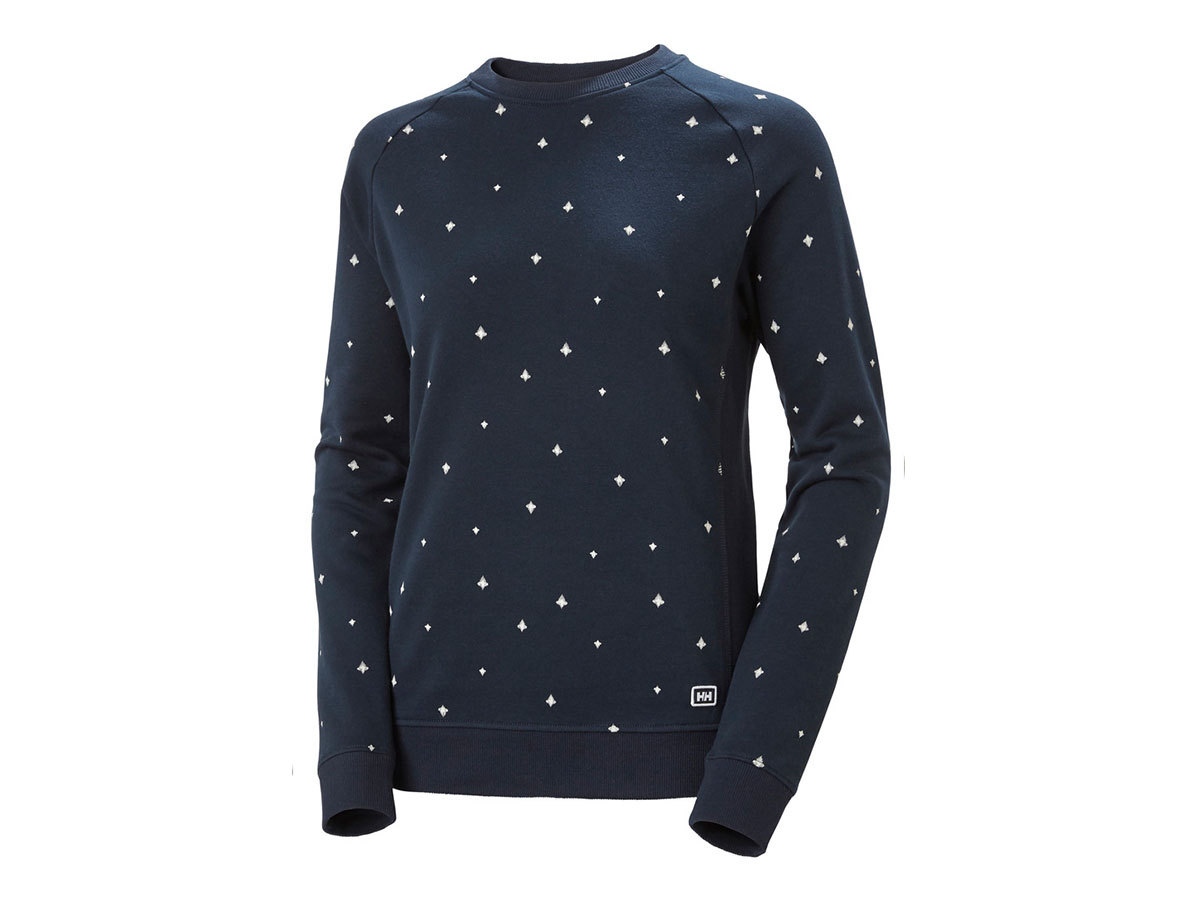 Helly Hansen W F2F COTTON SWEATER - NAVY PRINT - M (62935_597-M )