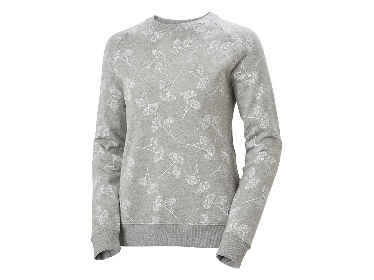 Helly Hansen W F2F COTTON SWEATER - GREY FOG PRINT - L (62935_853-L )