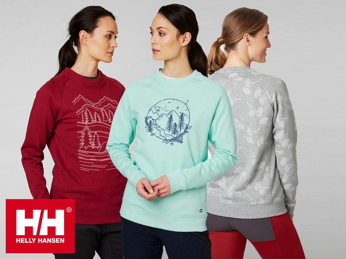 Helly Hansen W F2F COTTON SWEATER női pulóver, extra könnyű és kényelmes pamut anyagból (XS-XXL)