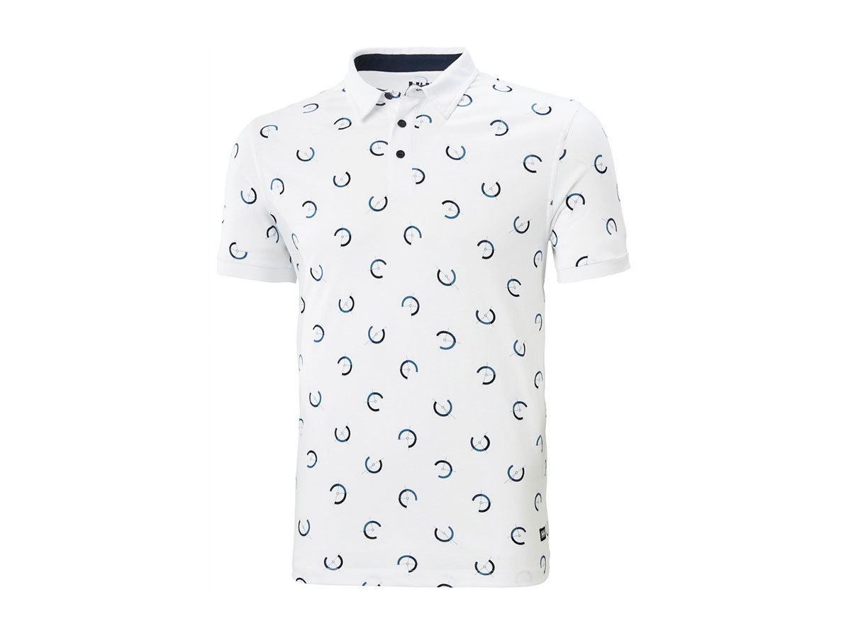 Helly Hansen FJORD POLO - WHITE LIGHTHOUSE PRINT - L (53024_007-L )