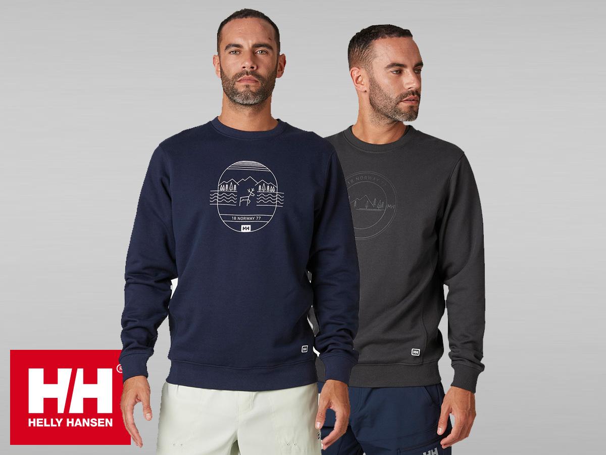Helly Hansen F2F COTTON SWEATER férfi pulóver, extra könnyű és kényelmes pamut anyagból (S-XXL)