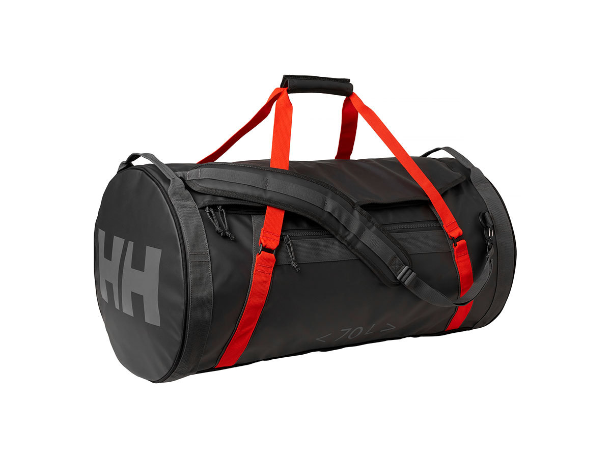 Helly Hansen HH DUFFEL BAG 2 70L - EBONY  / CHERRY TOMATO / - STD (68004_984-STD )