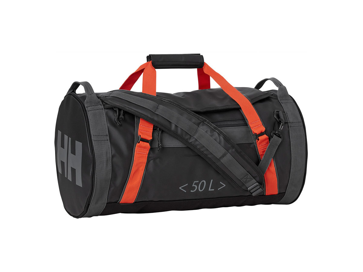 Helly Hansen HH DUFFEL BAG 2 50L - EBONY  / CHERRY TOMATO / - STD (68005_984-STD )