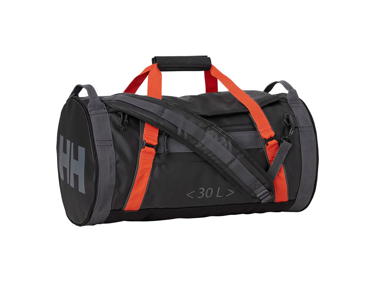 Helly Hansen HH DUFFEL BAG 2 30L - EBONY  / CHERRY TOMATO / - STD (68006_984-STD )
