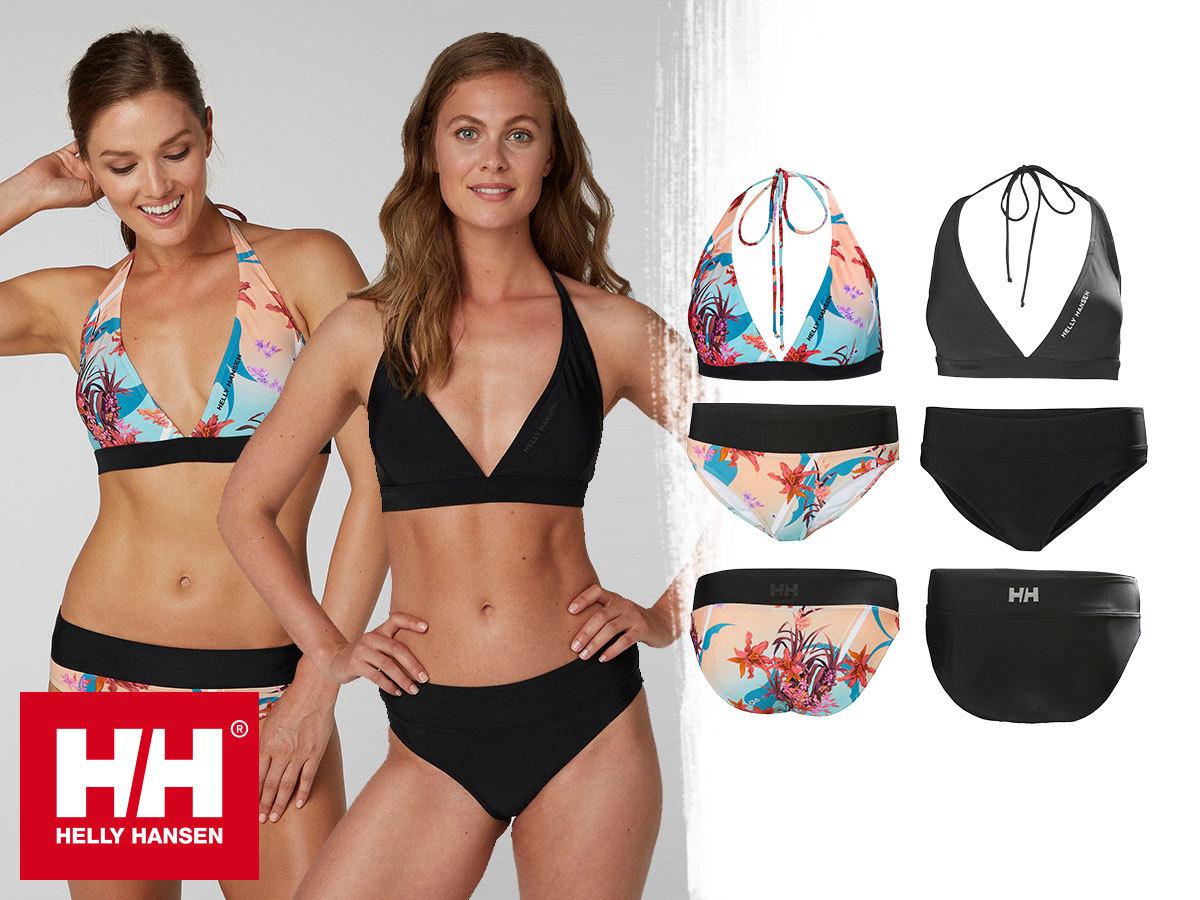 Helly Hansen W WATERWEAR BIKINI TOP and BOTTOM - nyakba akasztós, bélelt bikini top és alsó, puha Lycra anyagból