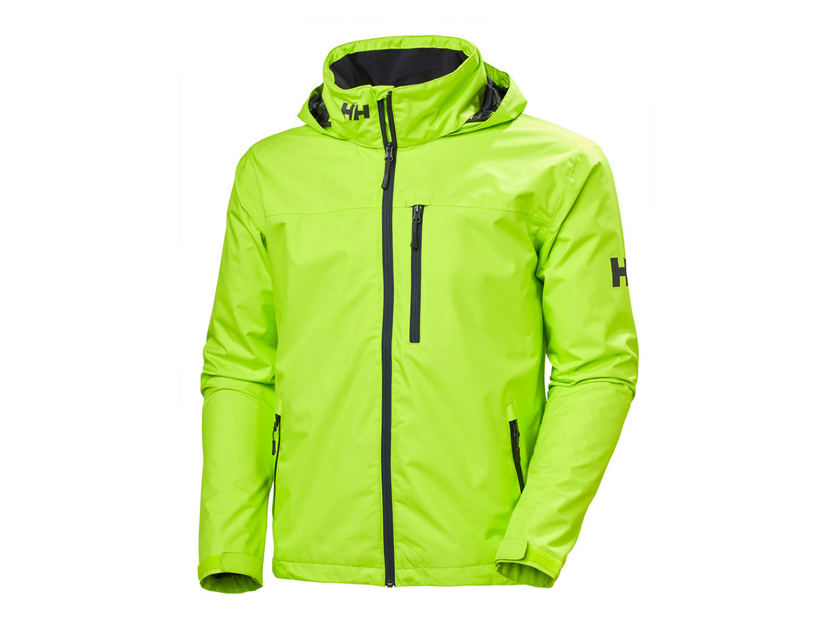 Helly Hansen CREW HOODED JACKET - AZID LIME - XXL (33875_402-2XL )