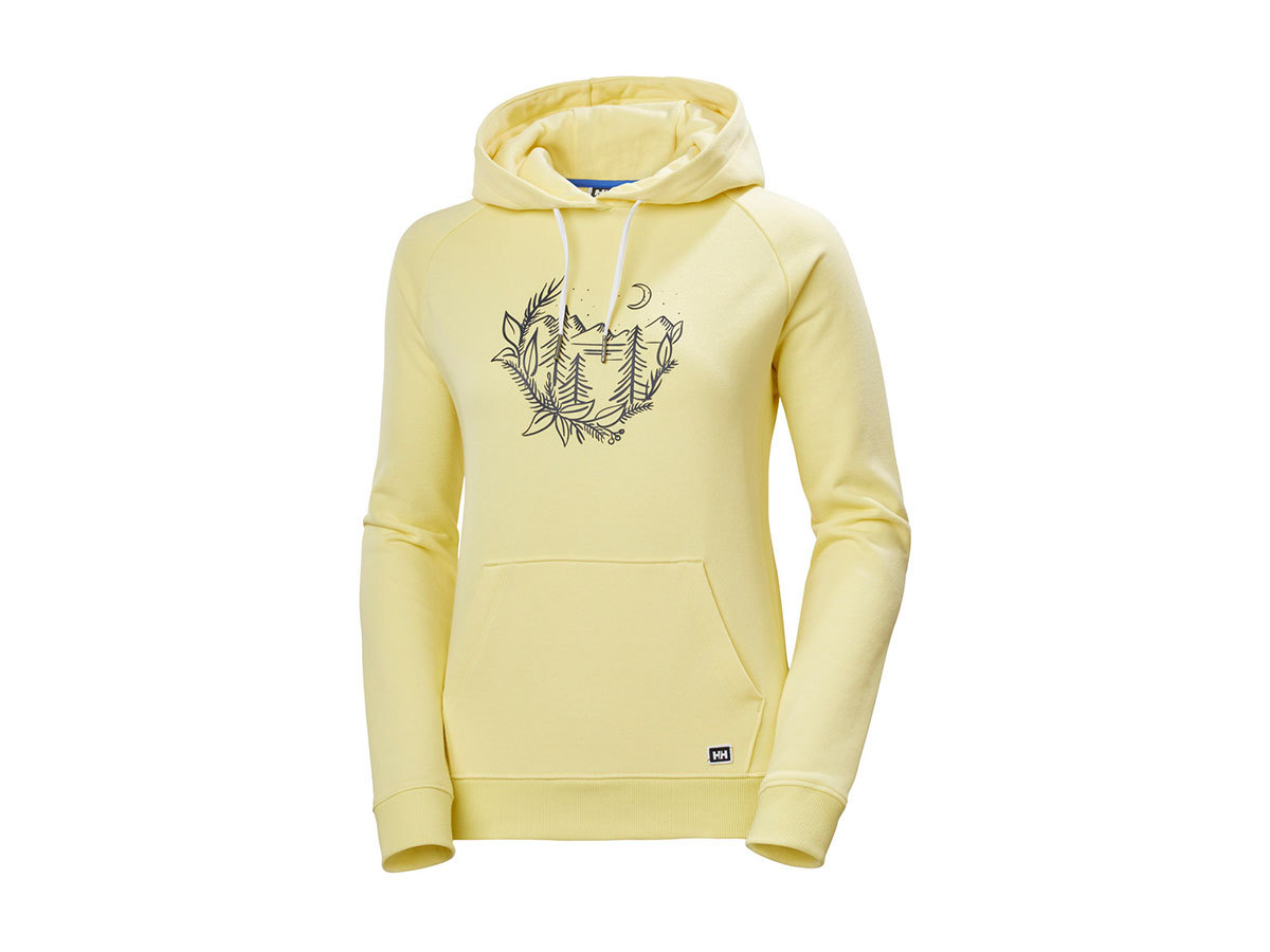 Helly Hansen W F2F COTTON HOODIE - YELLOW PEAR - M (62936_386-M )