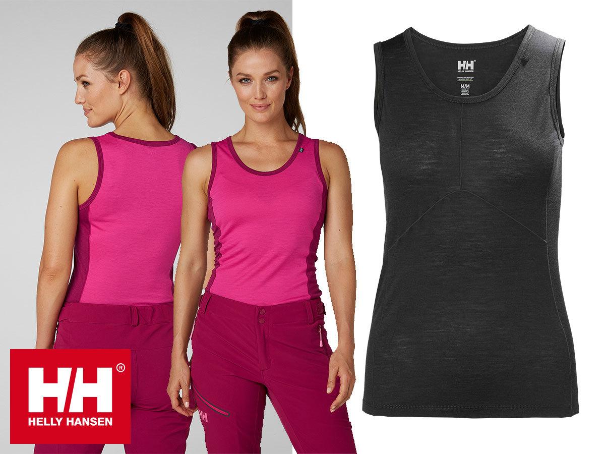Helly Hansen W HH MERINO LIGHT SINGLET szuper könnyű merinói gyapjú női trikó nagy légáteresztő képességgel és természetes szagállósággal