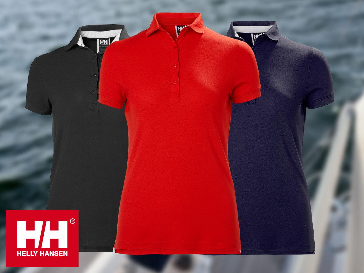 Helly Hansen W CREWLINE POLO - technikai póló nőknek gyorsan száradó és hűsítő hatású Tactel® anyagból - egyes termékek azonnal átvehetőek