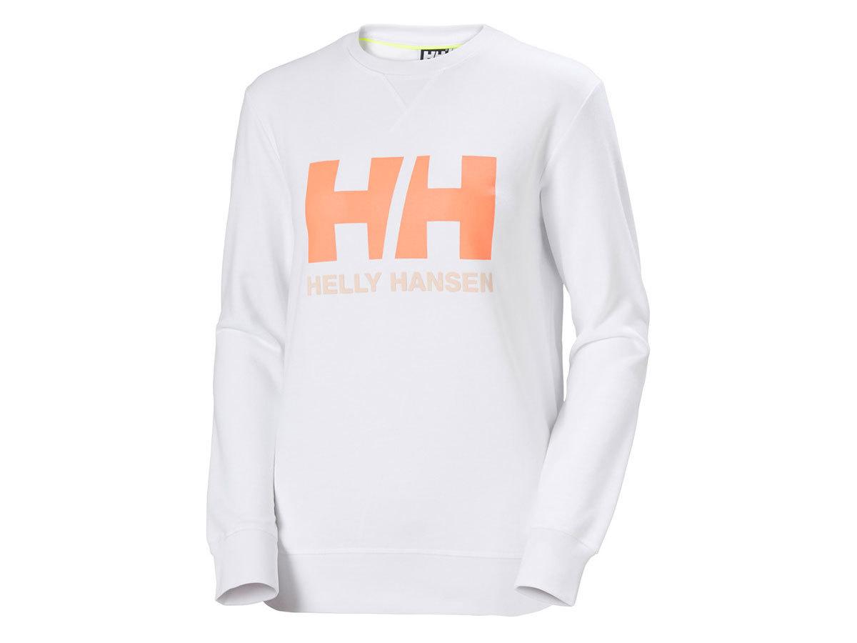 Helly Hansen W HH LOGO CREW SWEAT - WHITE - L (34003_002-L )
