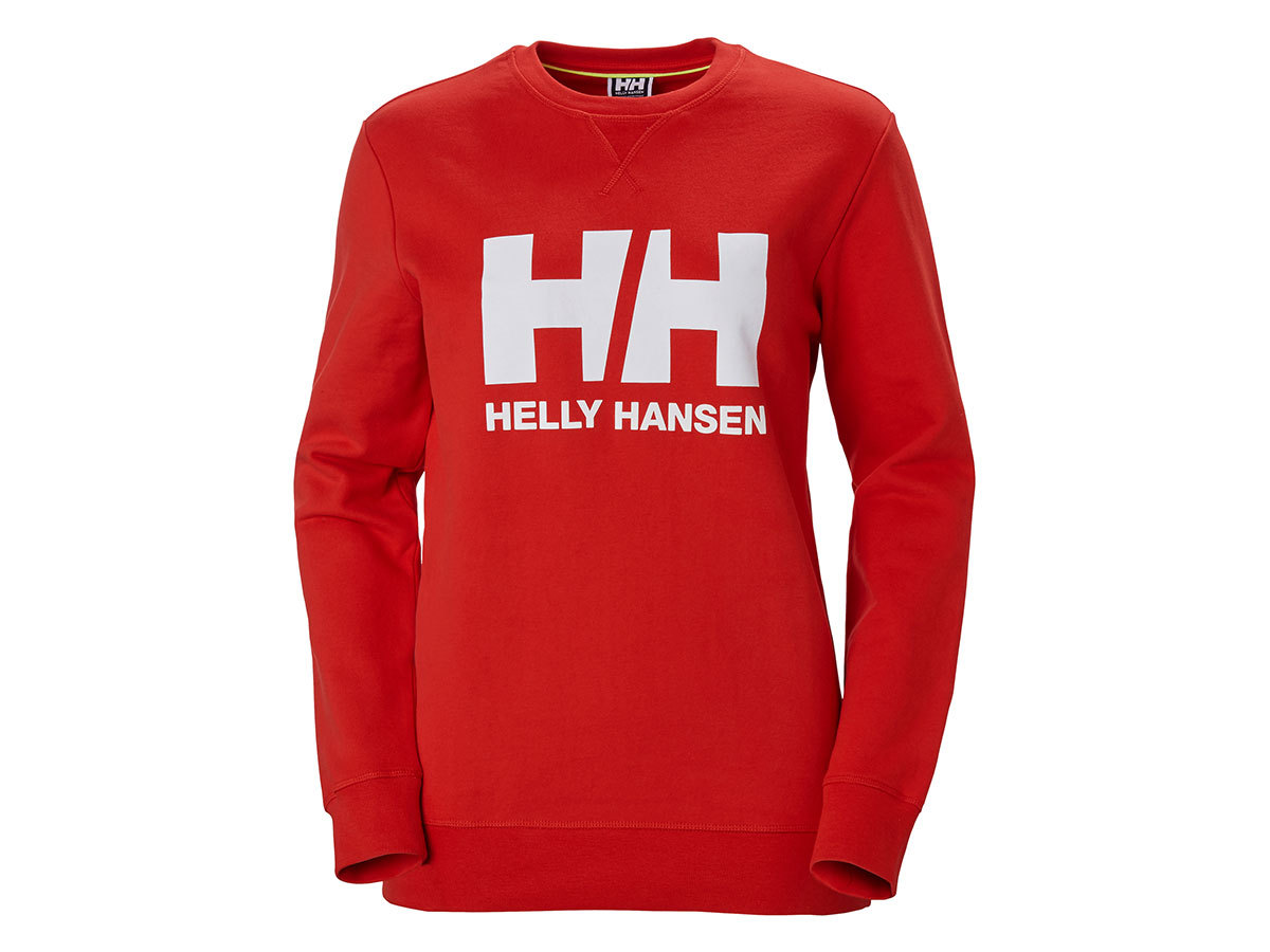 Helly Hansen W HH LOGO CREW SWEAT - ALERT RED - L (34003_222-L )