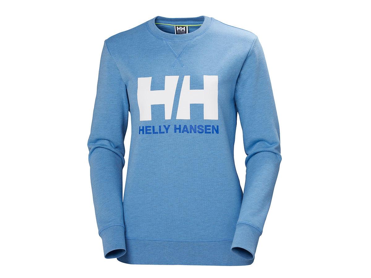 Helly Hansen W HH LOGO CREW SWEAT - CORNFLOWER MELANGE - XS (34003_509-XS )