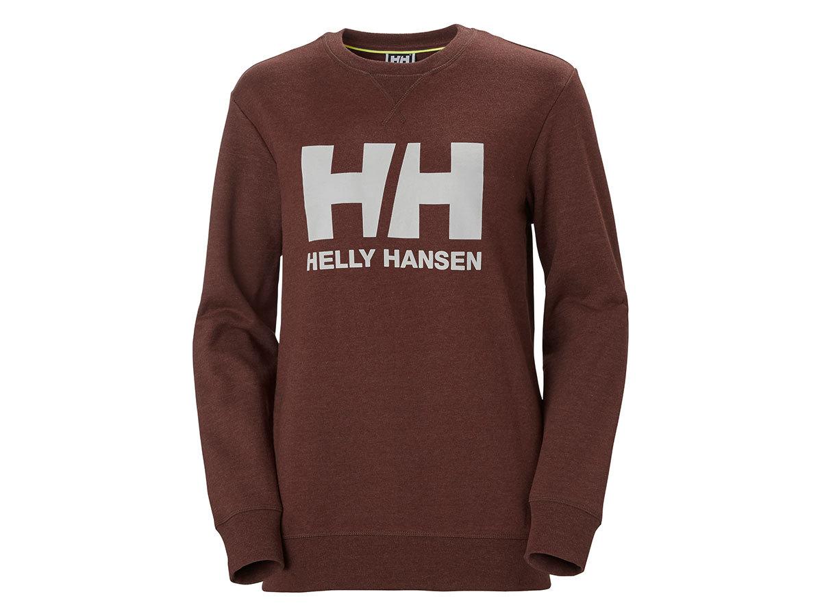 Helly Hansen W HH LOGO CREW SWEAT - REDWOOD MELANGE - L (34003_793-L )