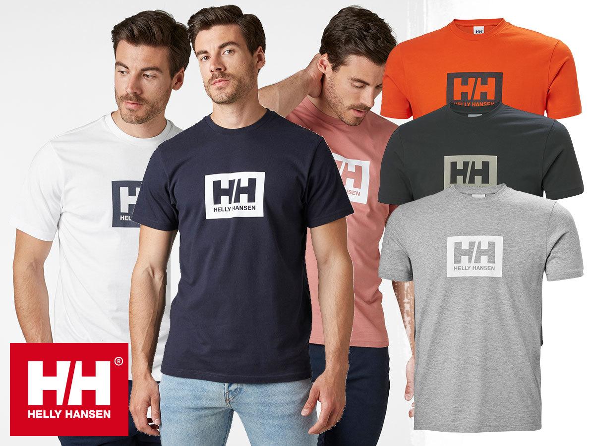 Helly Hansen HH BOX T (TOKYO T-SHIRT) - rövid ujjú férfi póló, puha pamut anyagból (S-XXL)